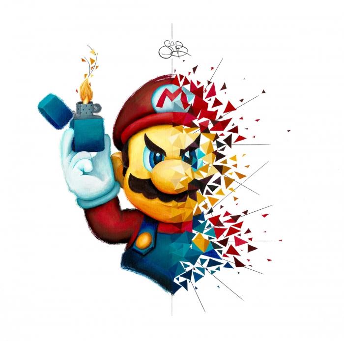 Mario s'enflamme