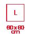 2.3 carré 60x60 L