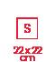 carré 22x22 S